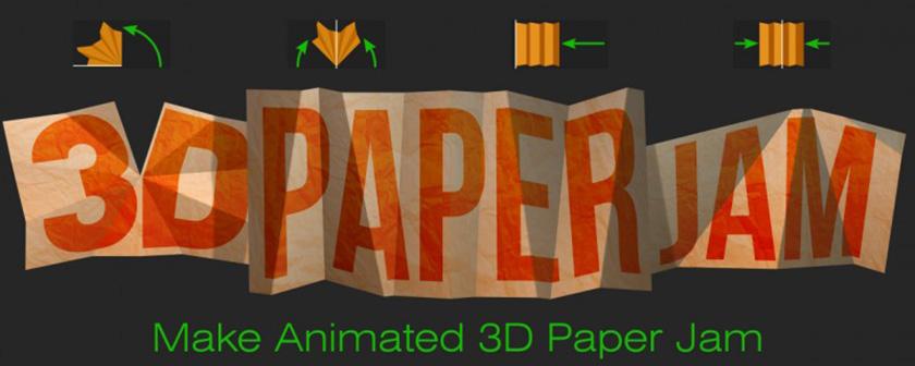 دانلود آموزش کرک اسکریپت 3D Paper Jam در افتر افکت