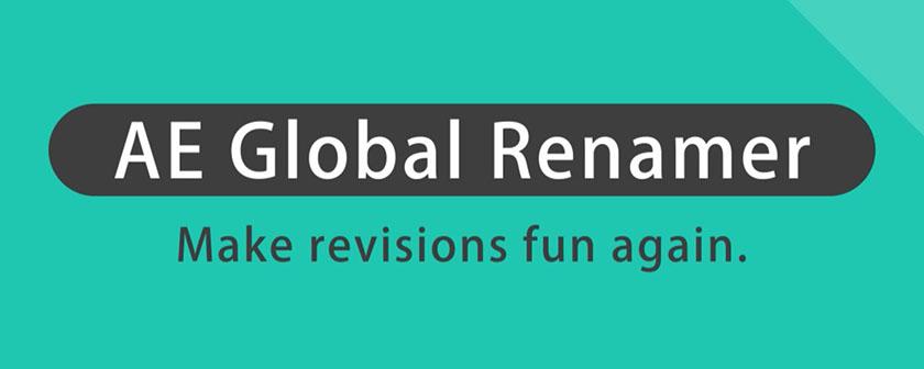 دانلود اسکریپت AE Global Renamer در افتر افکت