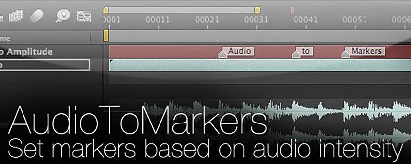 دانلود اسکریپت ضرب آهنگ AudioToMarkers در افتر افکت