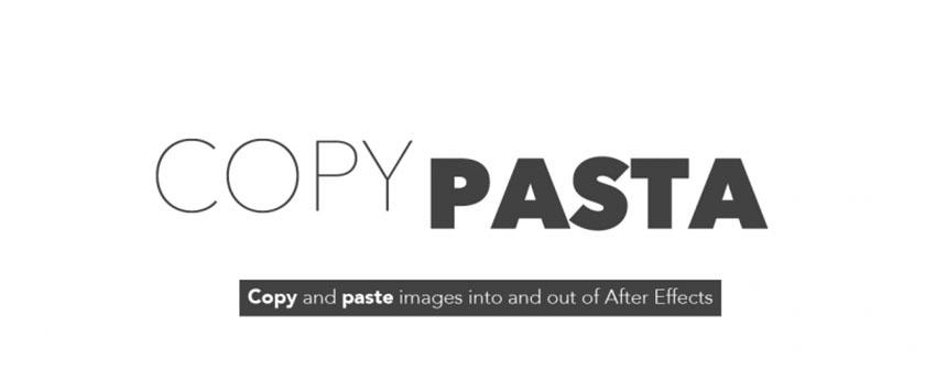 دانلود اسکریپت Copy Pasta برای افتر افکت