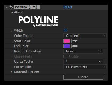 تست کرک اسکریپت Polyline در افتر افکت