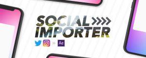 دانلود و آموزش کرک اسکریپت Social Importer در افتر افکت