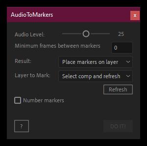 کرک اسکریپت AudioToMarkers در افتر افکت