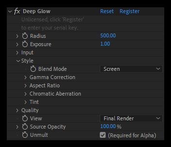 دانلود پلاگین Deep Glow برای افتر افکت