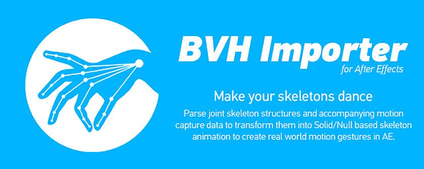 دانلود اسکریپت BVH Importer برای افتر افکت