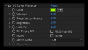تست کرک پلاگین Color Vibrance در افتر افکت