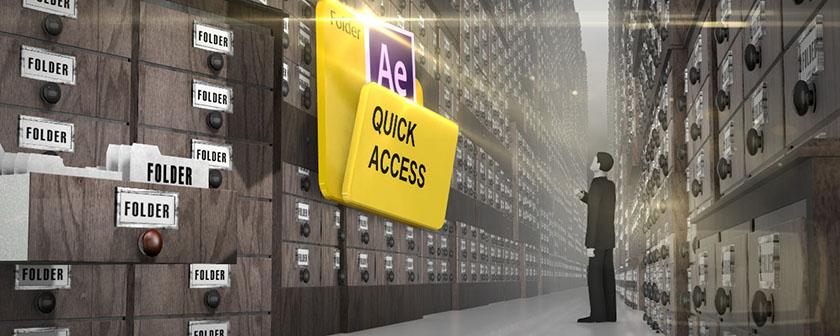تست کرک اسکریپت Quick Access در افتر افکت