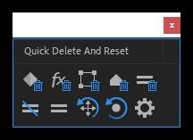 تست کرک اسکریپت Quick Delete And Reset در افتر افکت