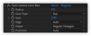 تست پلاگین Fast Camera Lens Blur در افتر افکت