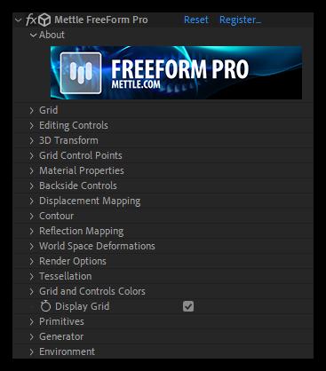 تست کرک پلاگین Freeform Pro در افتر افکت
