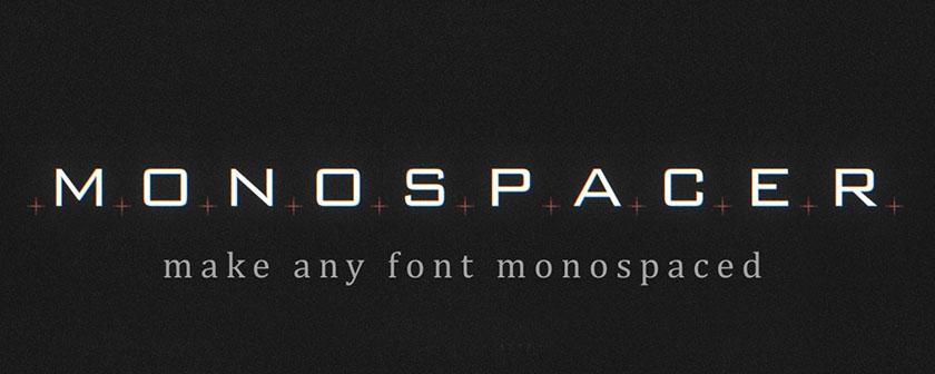 دانلود پلاگین Monospacer برای افتر افکت