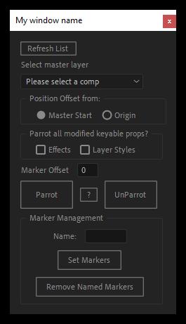 تست اسکریپت Parrot برای افتر افکت