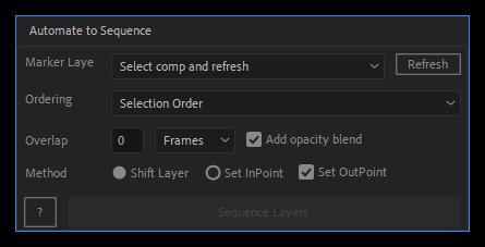 تست کرک اسکریپت Automate to Sequence در افتر افکت