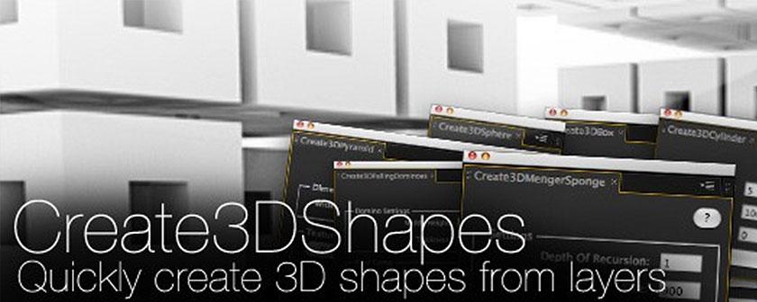 دانلود اسکریپت Create3DShapes برای افتر افکت