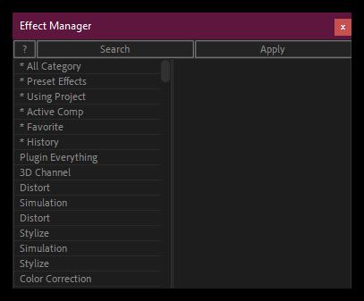 تست کرک اسکریپت Effect Manager در افتر افکت