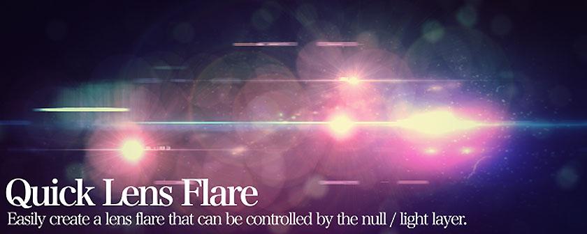 دانلود اسکریپت Quick Lens Flare برای افتر افکت