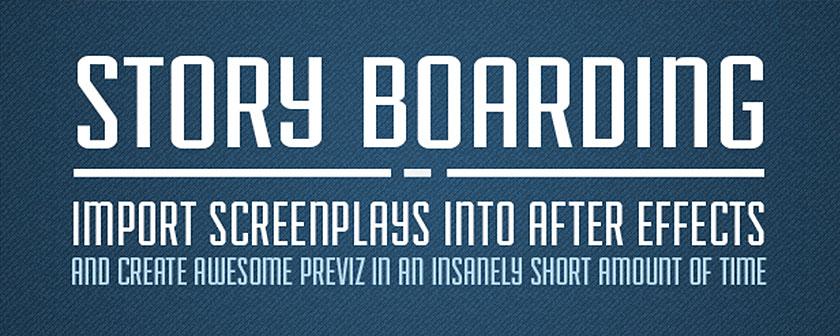 دانلود اسکریپت Story Boarding برای افتر افکت