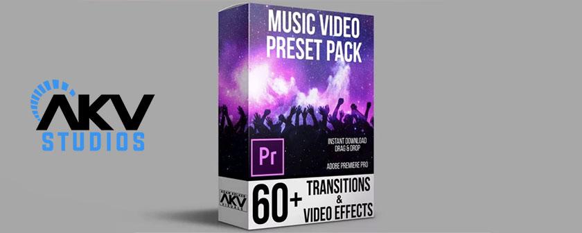 دانلود انواع پریست رنگ و ترانزیشن برای پریمیر پرو موزیک ویدیو