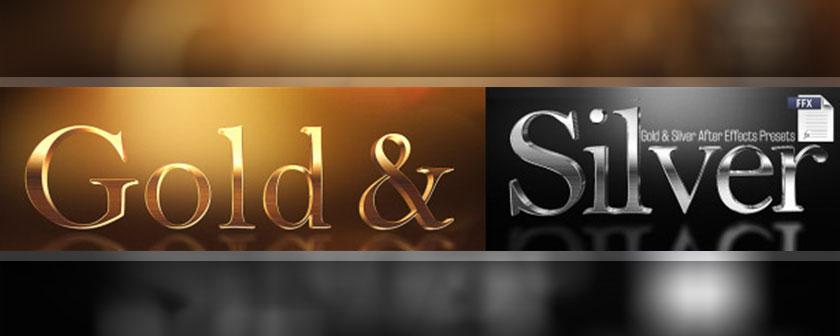دانلود و آموزش پریست Gold Silver Presets برای افتر افکت
