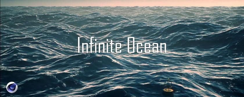 دانلود پلاگین Infinite Ocean C4D ساخت دریا در Cinema 4d