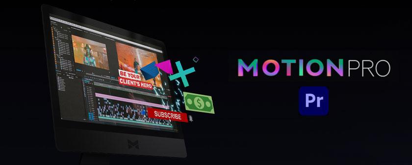 دانلود اسکریپت و پلاگین Motion Pro برای پریمیر پرو