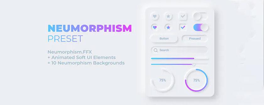 دانلود پریست Soft UI Elements در افتر افکت