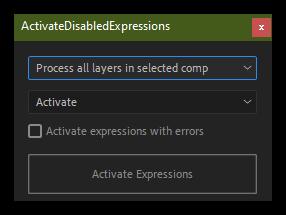 تست کرک اسکریپت ActivateDisabledExpressions در افتر افکت