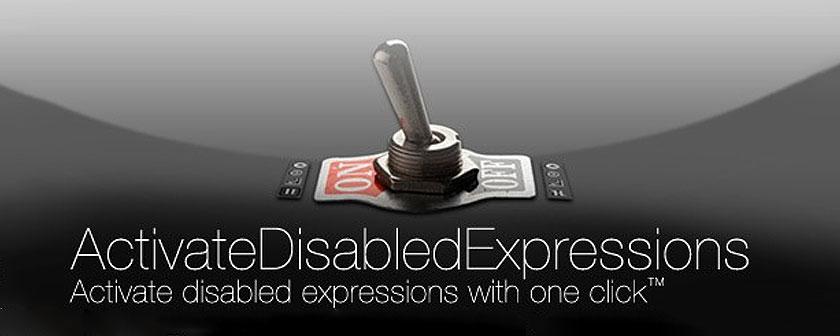 دانلود اسکریپت ActivateDisabledExpressions برای نرم افزار افتر افکت
