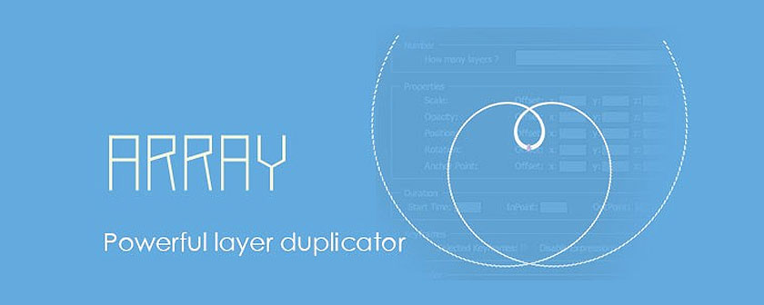 دانلود اسکریپت Array برای نرم افزار After Effects