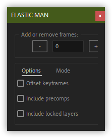 تست کرک اسکریپت Elastic Comp Changer در افتر افکت
