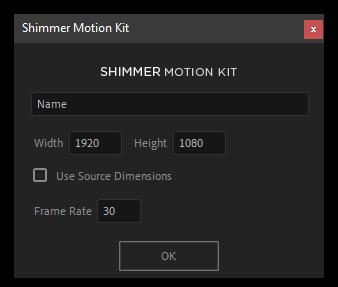تست کرک اسکریپت Shimmer Motion Kit برای After Effects