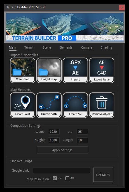 تست کرک اسکریپت Terrain Builder Pro در نرم افزار افتر افکت