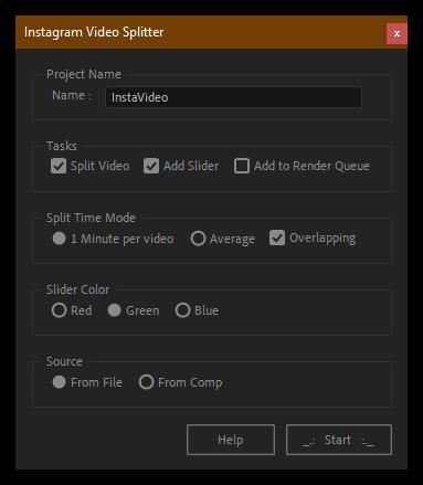 تست کرک اسکریپت Video Splitter Instagram برای افتر افکت