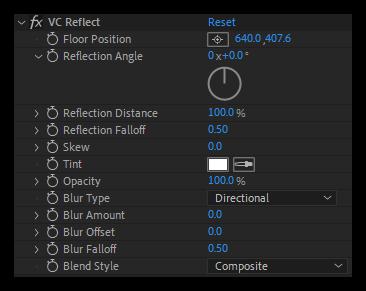 تست کرک پلاگین VC Reflect در افتر افکت