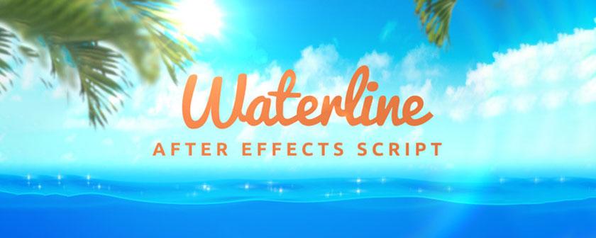 دانلود اسکریپت شبیه سازی ساخت آب Waterline در After Effects
