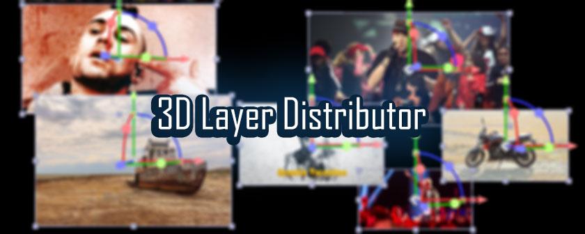 دانلود اسکریپت 3D Layer Distributor برای نرم افزار افتر افکت