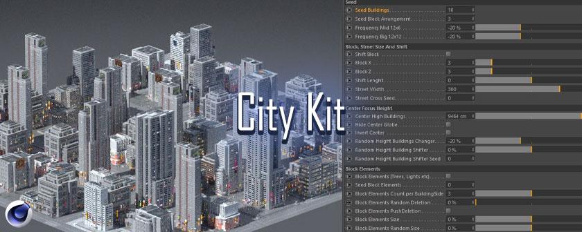 دانلود پلاگین های City Kit برای نرم افزار Cinema 4d