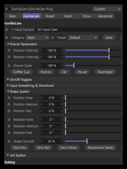 تست کرک پلاگین GorillaCam C4D در نرم افزار Cinema 4d
