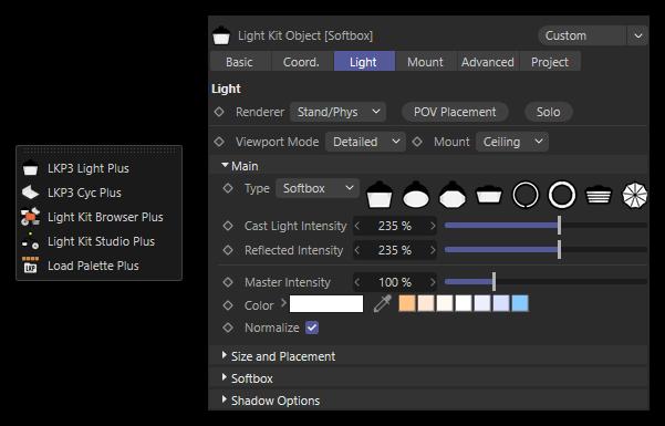 تست کرک پلاگین Light Kit Pro در نرم افزار Cinema 4d