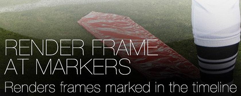 دانلود اسکریپت Render Frame At Markers برای نرم افزار افتر افکت