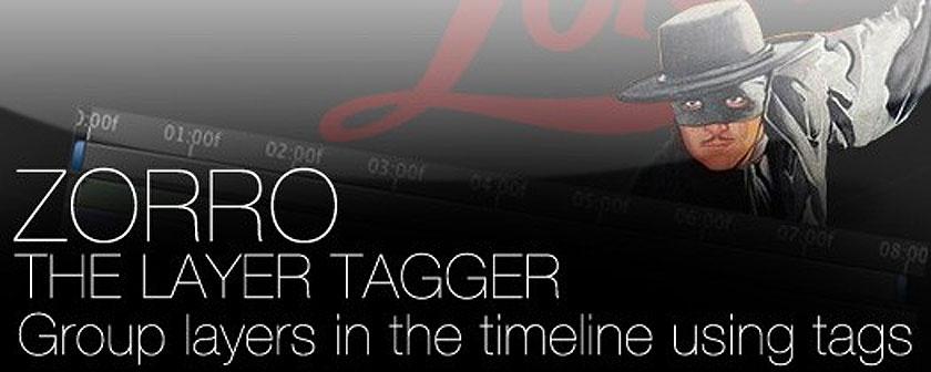 تست کرک اسکریپت Zorro-The Layer Tagger در نرم افزار افتر افکت