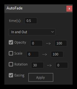 تست کرک اسکریپت kd_AutoFade در افتر افکت