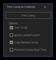 تست کرک اسکریپت Trim Comp to Contents در نرم افزار افتر افکت